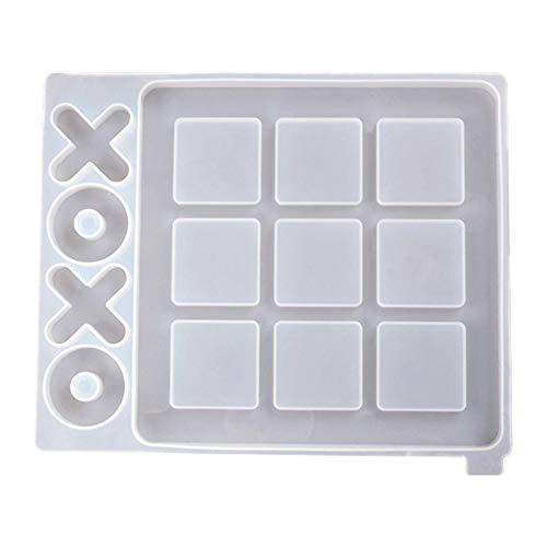 Stampo in Silicone X O Gioco da Tavolo Kit Stampo in Resina siliconica, Usato per Gioco epossidico Stampo per colata Artigianale Fai-da-Te, Gioco da Tavolo per Bambini Adulti, Decorazione della casa