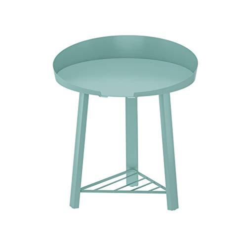 Mesa Auxiliar Mesita de Café Tabla lado de la mesa final del hierro con el frente abierto compartimento de almacenamiento de metal pequeña mesa de centro for espacios de oficina Sala de muebles de dor