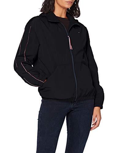 Tommy Hilfiger Damen Cory Funnel Packable Windbreaker Jacke, Schwarz (Black Bds), 38 (Herstellergröße: Large)