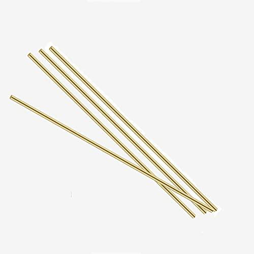 brass metal raw materials XMRISE Brass Rods Solid Bar Round Electrode Welding Sticks Wires Metal Raw Materials 500mm 4pcs,Dia.0.16
