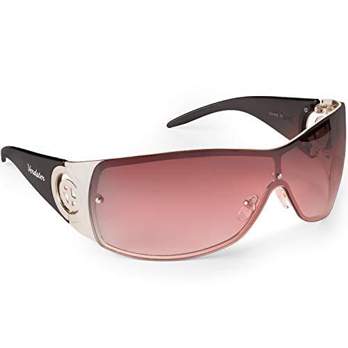 Verdster Gafas de Sol para Mujer Cosmo – Gafas de Sol Grandes para Mujer de Visera con Escudo - Montura Grandes Envolvente con Protección UV