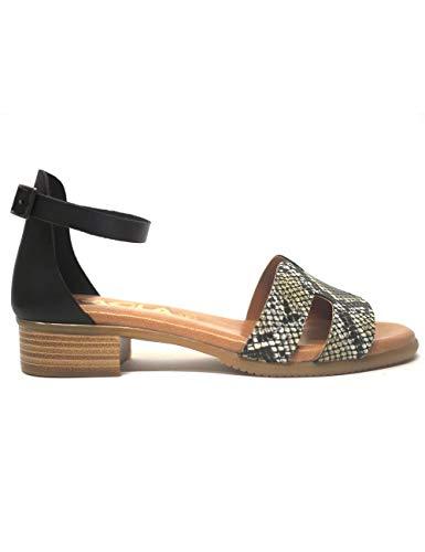 Sandalias para Mujer Kaola 1292 Serpiente Negro