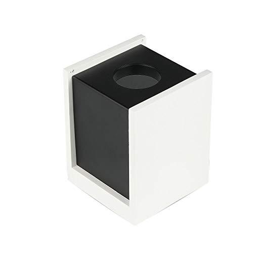 V-TAC VT-860 - Soporte de techo cuadrado de yeso blanco con borde de metal negro para 1 x GU10-GU5.3 - SKU 3140