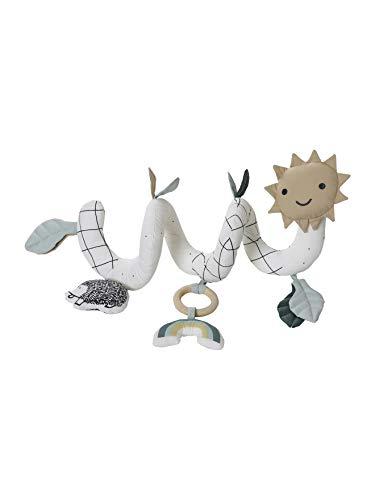 Vertbaudet - Espiral de estimulación de algodón ecológico y poliéster LOVELY NATURE blanco medio con decoración TU