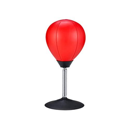 Z&HA Desktop-Stanztasche, Stress Buster Relief Freistehender Schreibtisch Tisch Boxing Punch Ball Saugnapf Reflex Belastung Und Spannung Spielzeug Für Jungen, Die Ihm Vater Kinder