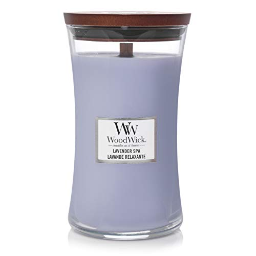 WoodWick Large Hourglass Scented Candle, Lavender Spa
