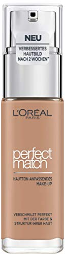 Maquillaje de L'Oréal Paris Perfect Match, D5 / W5 Golden Sand, 1er Pack (1 x 30 ml)