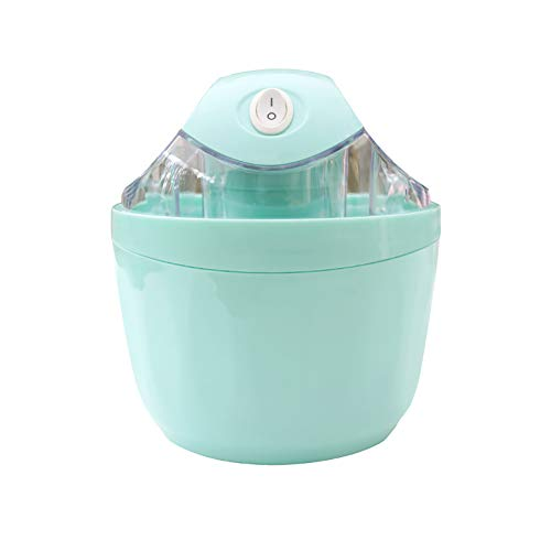 Automatische Ice Cream Machine, Ice Cream Machine Double Inlet Ontwerp Dubbele isolatie Mini Ice Cream Machine geschikt voor familie,Blue