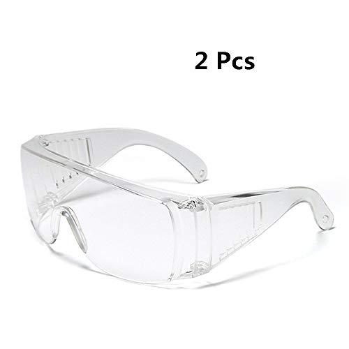 2-delige Anti Fog Veiligheid Goggles Splash Resistant Veiligheidsbrillen Veiligheidsschoenen Goggles over Glazen voor Man Vrouwen