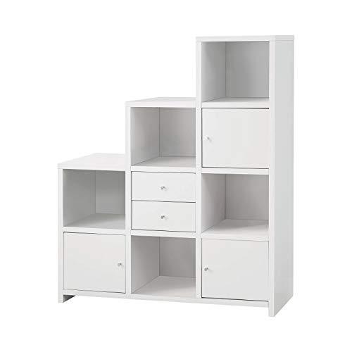 Coaster Home Furnishings White Bookshelf With Drawers And Doors