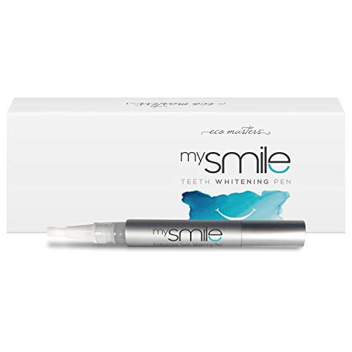 Lápiz Blanqueador Dental profesional mySmile - Fórmula Natural y Segura Con Bicarbonato de Sodio y mentol - Blanqueamiento de acción rápida para una sonrisa perfecta y brillante - Sin peróxido
