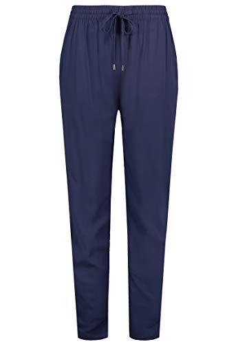 Sublevel Damen Sommer Stoff-Hose mit Gummibund & Kordelzug Dark-Blue L
