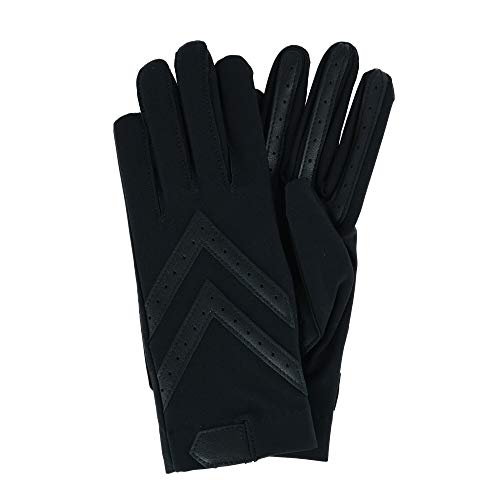 Isotoner Women's Unlined Spandex Touchscreen Winter Driving Glove, Large/Xlarge