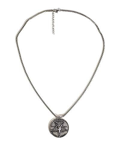 Lucifer Münze Pfingsten Coin Halskette Cosplay Kostüm Zubehör Zink-Legierung Schmuck für Herren Damen Halloween Weihnachten Kleidung Geschenk Sammlung (Halskette A)
