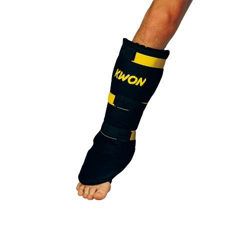 KWON Uni Schienbeinschutz Muay Thai, schwarz, M, 4067502