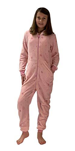 Meisjes jumpsuit overall pyjama Onesie - sterren look - 281 467 97 954, Maat: 140, Kleur: roze
