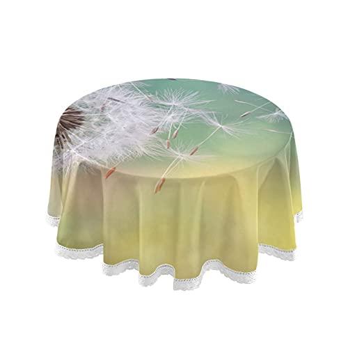 Accesorios para sala de estar Mantel redondo Mantel con semillas de diente...