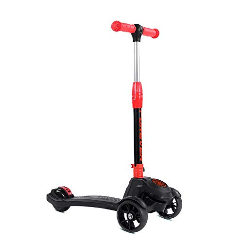 Read About Home Gym Adjustable Height Handle Kick Scooters with Glider Wheels Wide Deck for Children...