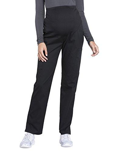 Cherokee Workwear Professionals Maternity Straight Leg Scrub Pant, S, Black