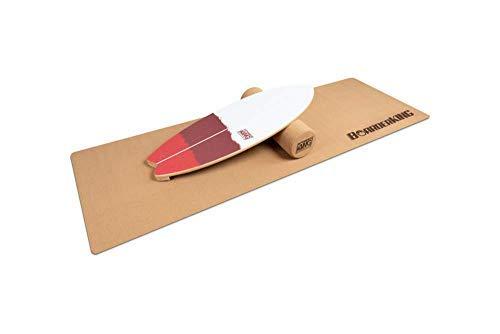 BoarderKing - Tabla de Equilibrio para Uso en Interiores, Wave, 100 mm, Rollo de Corcho