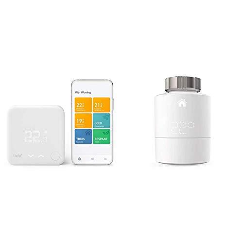 tado° Smartes Thermostat (Verkabelt) Starter Kit V3+ - Intelligente Heizungssteuerung, Einfach selbst zu installieren & Smartes Heizkörper-Thermostat - Zusatzprodukt für Einzelraumsteuerung