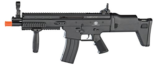 FN Scar-L Spring Powered Airsoft Rifle, Black, 300 FPS