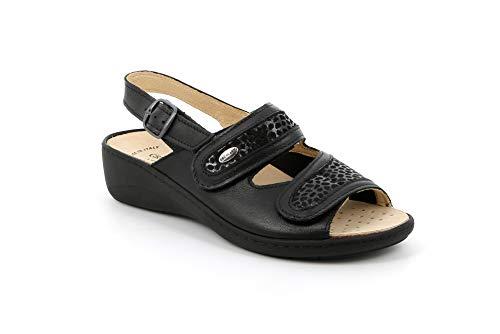 Grunland Sandalo Donna SE0417 68ESTA Nero Nero 35 EU