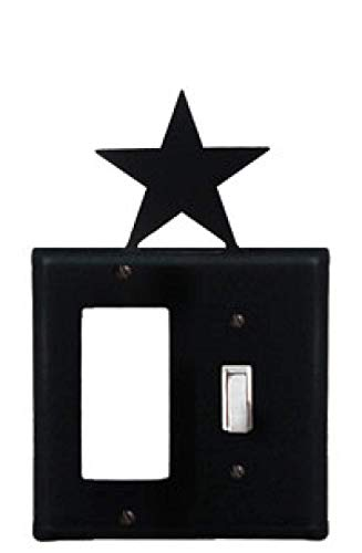 Village EGS-45 Stern-Abdeckung aus Schmiedeeisen, 20,3 cm, Schwarz