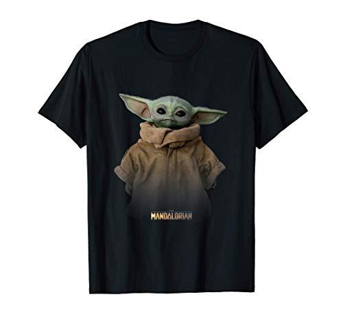 Star Wars The Mandalorian Logo The Child Simple Portrait T-Shirt