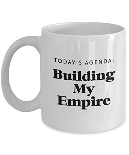 N\A Agenda de Hoy: Taza de café Building My Empire, Blanca