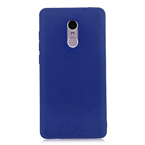 cuzz Funda para Xiaomi Redmi Note 4+{Protector de Pantalla de Vidrio Templado} Carcasa Silicona Suave Gel Rasguño y Resistente Teléfono Móvil Cover-Azul Oscuro