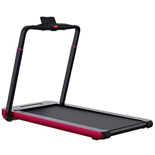 Bajo turística cinta de correr, caminar eléctrico portátil cojín plegable ruedas de ardilla ejercicio corriente de la máquina con el controlador del altavoz y Bluetooth remoto for la seguridad del gim