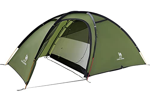 CAMEL CROWN 2 Person Camping Dome Tent with Automatic Waterproof Pop up Hiking Tents,Lightweight Waterproof Portable Backpacking Tent for Outdoor Camping/Hiking