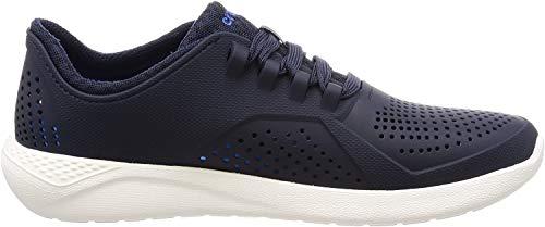 Crocs Men's LiteRide Pacer Sneaker, Navy/White, 9 M US
