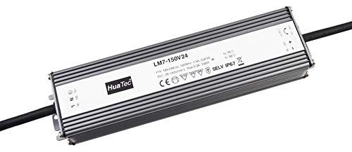 HuaTec LED Trafo 24V 150W Konstantspannung IP67 Wasserdicht für LED Streifen Lampen LED Netzteil Driver Treiber Transformator