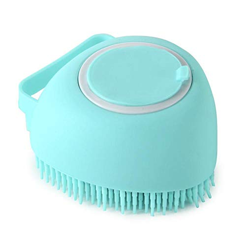 WFIT Pet Dog Bath Brush Comb Silicone Spa Shampoo Massage Brush Shower Hair Removal Comb for Dogs Cats Cleaning Grooming Tool Pink