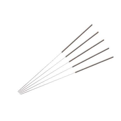 5pcs 3D Printer Nozzle Head Cleaning Needle Stainless Steel Extruder Head Cleaning Tool, 0.3mm, Silver