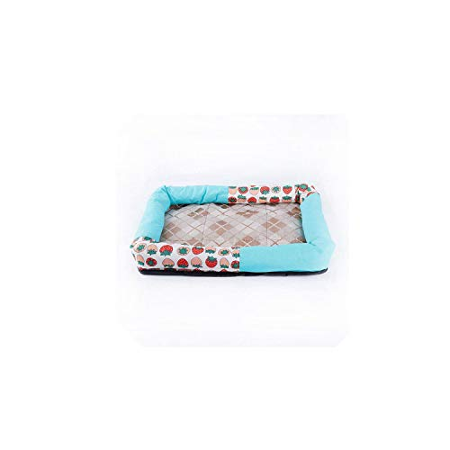 Erpot Summer Ice Silk Cool Breathable Pet Dog Cat Sleeping Bed Mats Nest Bed Cushion House Kennel,A,XL