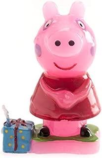 Dekora 346089Candle with Peppa Pig Design, 7.5cm