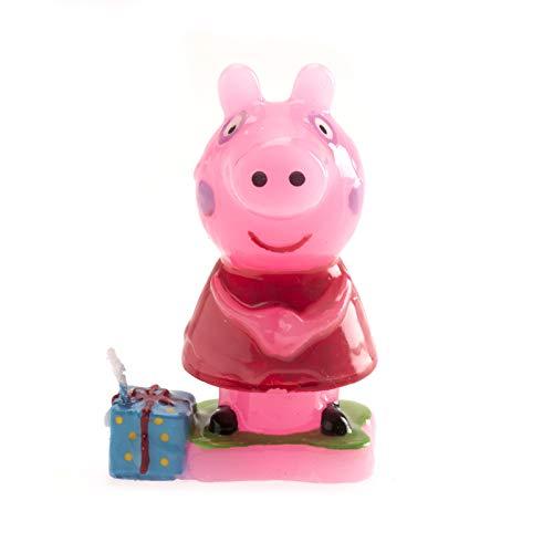 dekora 346089Kerze mit Peppa Pig Design, 7,5cm