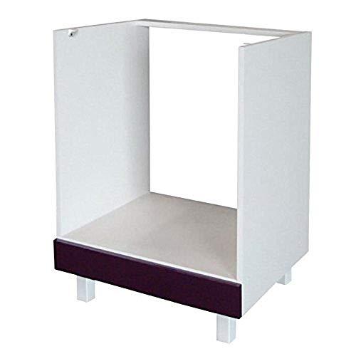Berlioz Creations CF6BA Küchenschrank für Einbauofen Hochglanz Pflaume 60 x 52 x 83 cm