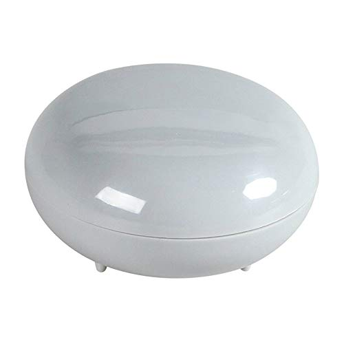 LIUJIANING Household Plain Portable Soap Box Travel Round Drain Soap Box Bathroom Soap Dish Rack Holder Shower Soap Box Dispenser Container