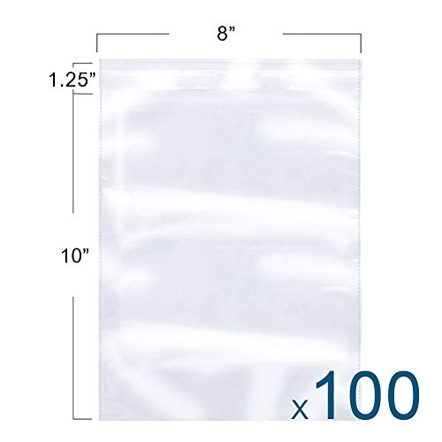 The Elixir Packaging 100 Count 8 x 10 Clear Reclosable Poly Bag, Meets USDA FDA Standards