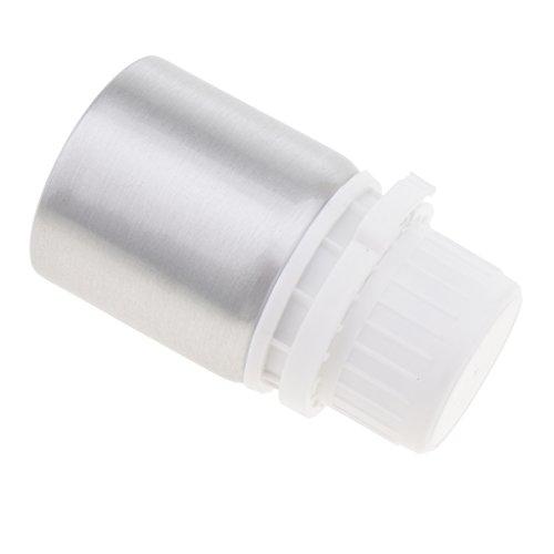 Baoblaze bouteilles de presse en aluminiumtransparent avec pompe distributeurs 50 ml / 100ml / 250ml / 500ml / 1250ml - argent, 50 ml