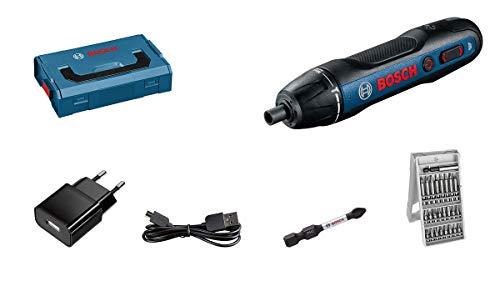 Bosch Professional Akkuschrauber Bosch GO (inkl. 25-tlg. Bit-Set, Ladekabel, L-BOXX Mini)