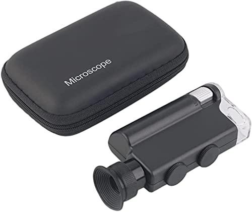 Mini microscopio portátil 200x-240X LED UV, lámpara de Esp