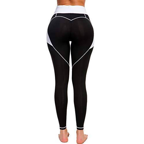 Damen High Waist Leggings Yoga Fitness Hose Jogginghose Herz Sporthose Frauen Push Up Elastisch Leggins L Dear-XiaoBao