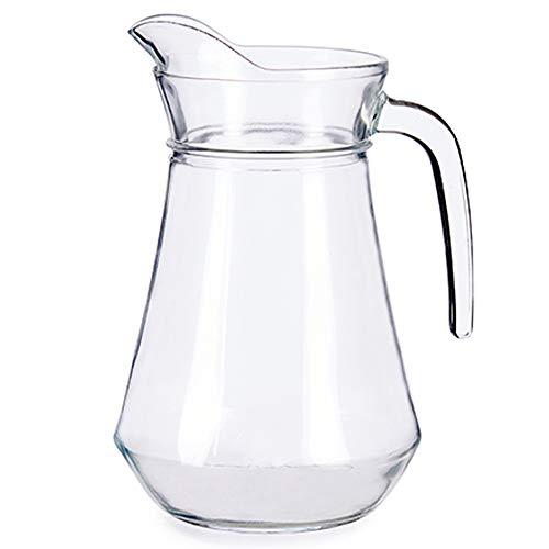 MGE - Caraffa di Vetro - Brocca in Vetro per Acqua, Tè, Succo di Frutta - Bottiglia Trasparente - 1,3 l