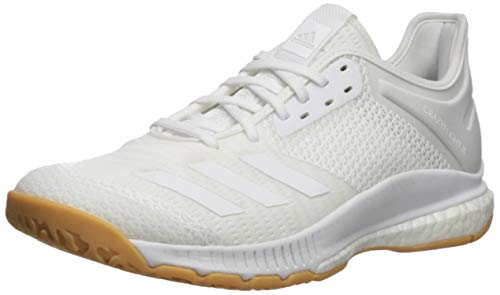 adidas Women's Crazyflight X 3 Volleyball Shoe, White/Gum, 7.5 M US