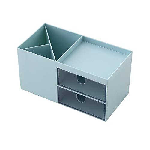 TukerMake-up-Organizer, Aufbewahrungsbox für Kosmetika, Schmuck, Schreibwaren, Kunststoff, Blau